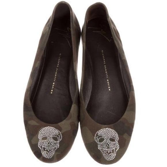 74113e11c63 Giuseppe Zanotti Shoes | Camouflage Skull Flats | Poshmark